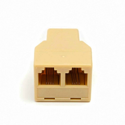 RJ11 6P4C Telephone Cable Y Splitter